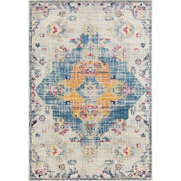 Diehl Blue Area Rug by Bungalow Rose