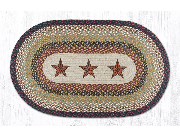 Barn Stars Printed Area Rug by Earth Rugs