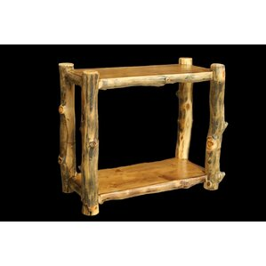 Utah Mountain Aspen Console Table with Recessed Top and Shelf