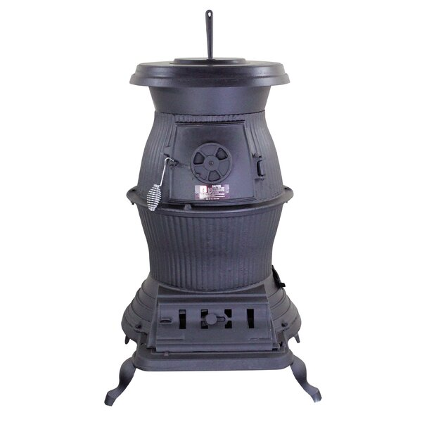 Railroad Potbelly Direct Vent Coal Stove by United States Stove Company United States Stove Company