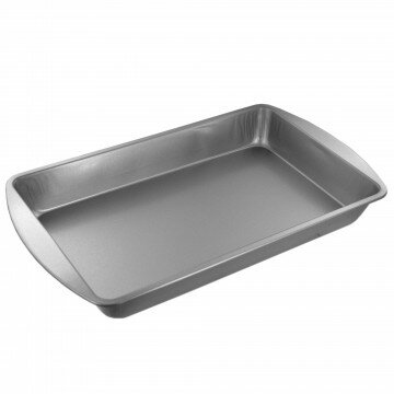 Non-Stick Biscuit and Brownie Baking Sheet (Set of 2) by Kole Imports