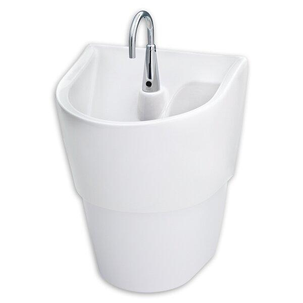 ICU Ceramic 20 Wall Mount Bathroom Sink with Overflow by American Standard