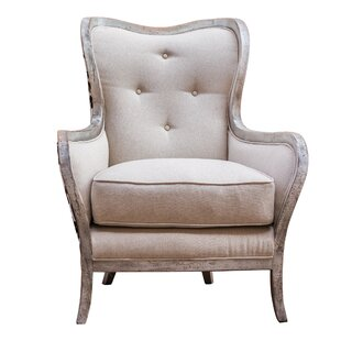 Reviews Chalina Wingback Chair by Uttermost