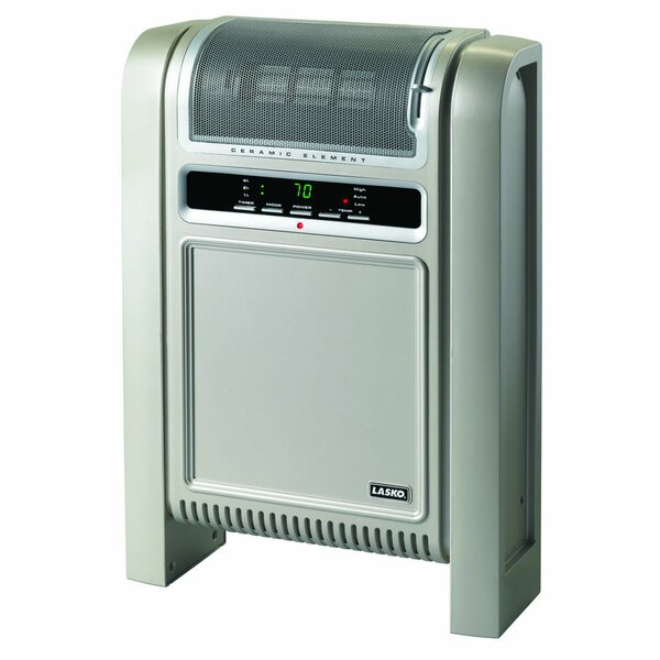 Ceramic 1,500 Watt Electric Radiator Heater with Adjustable Thermostat by Lasko