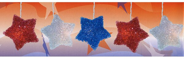 4th of July Sparkle Star 10 Light String Lights by Sienna Lighting
