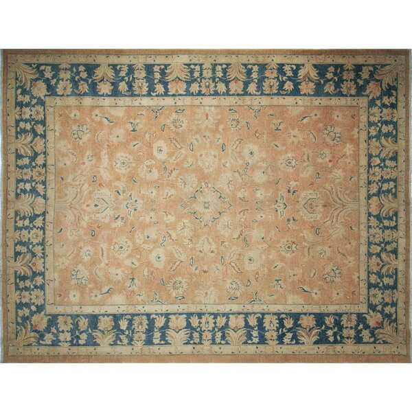 One-of-a-Kind Romona Hand-Knotted Beige Area Rug by Isabelline