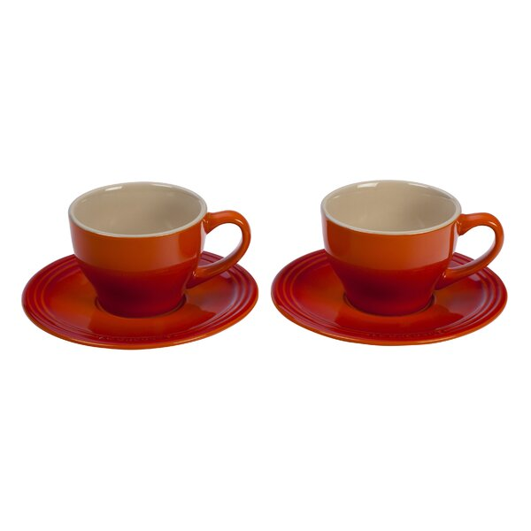 Stoneware Cappuccino Cup and Saucer (Set of 2) by Le Creuset