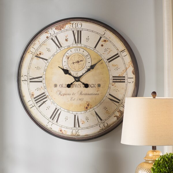 Oversized 31.5 Round Metal Wall Clock by Darby Home Co