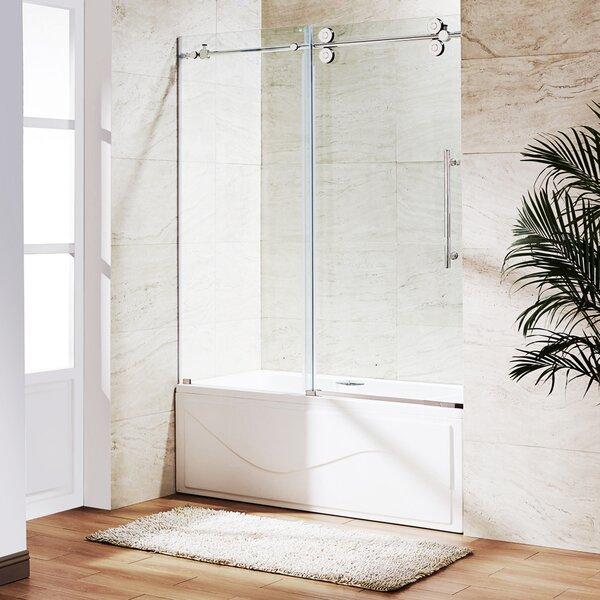 Elan 60 x 66 Single Sliding Frameless Tub Door by VIGO