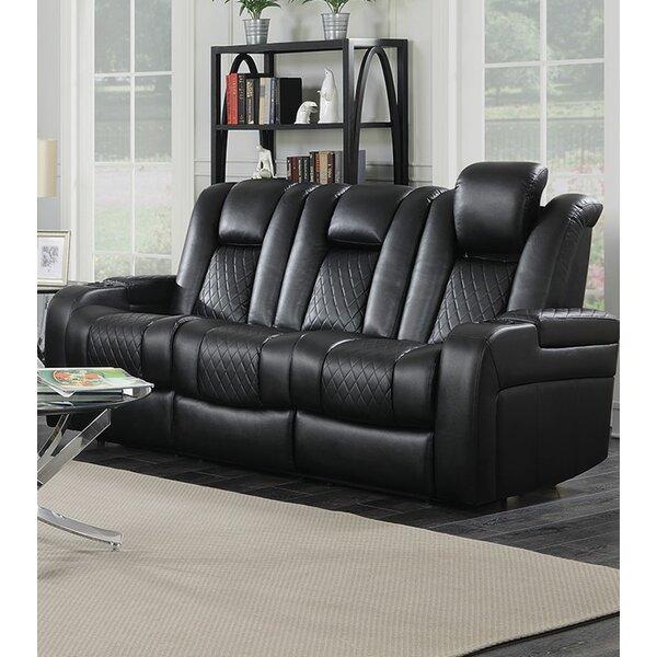 Leonaldo Padded Reclining Sofa by Red Barrel Studio