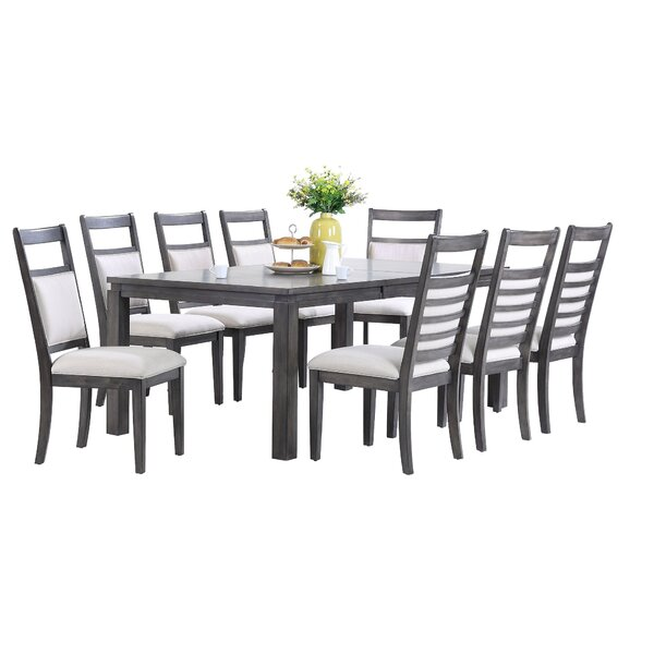 Middlebury 9 Piece Dining Set by Red Barrel Studio