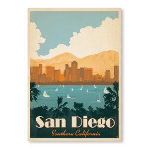 San Diego Southern California Vintage Advertisement by East Urban Home