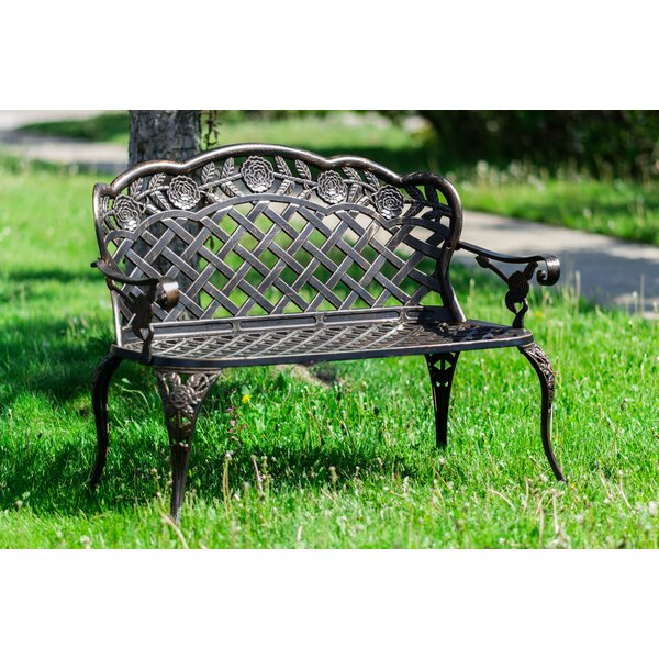 Ries Lattice Metal Garden Bench by Astoria Grand