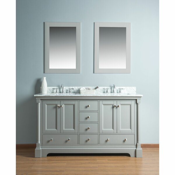 Rayleigh 60 Double Bathroom Vanity Set with Mirror by Charlton Home