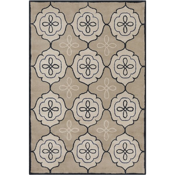 Willow Hand Tufted Wool Tan/Cream Area Rug by Red Barrel Studio