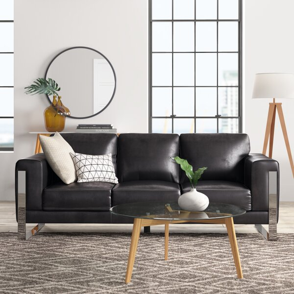 Olivarez Leather Sofa by Orren Ellis