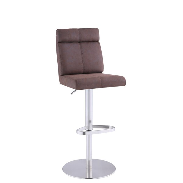 Grabert Adjustable Height Swivel Bar Stool by Orren Ellis Orren Ellis
