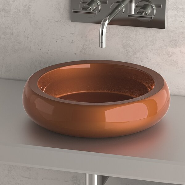 Zero Metal Circular Vessel Bathroom Sink by Maestro Bath