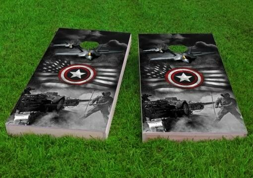 Armed Forces Cornhole Game (Set of 2) by Custom Cornhole Boards