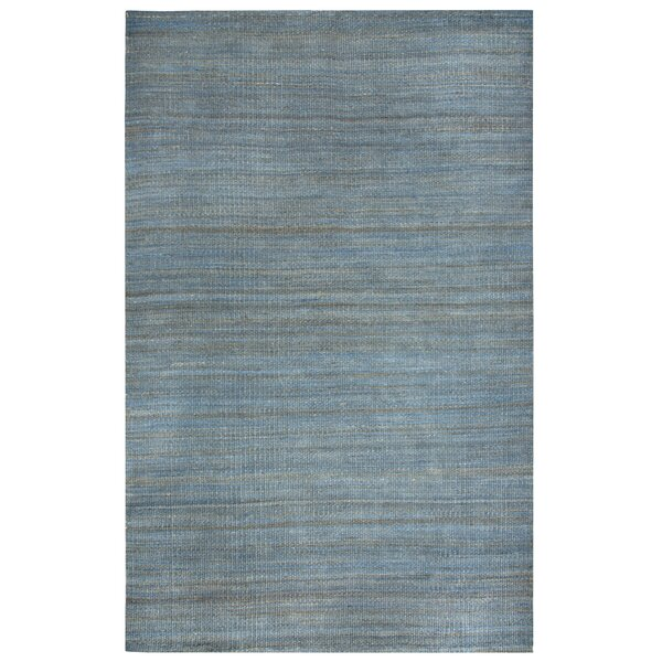 Privett Hand-Woven Blue/Gray Area Rug by Gracie Oaks