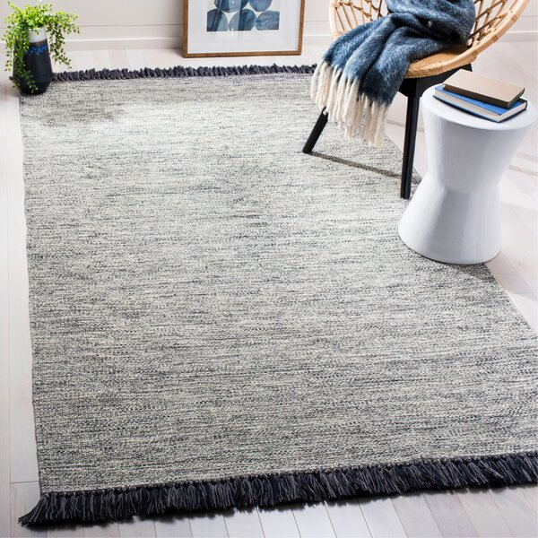 Nida Hand-Woven Gray Area Rug by Beachcrest Home