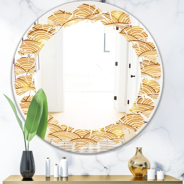 Clouds in the Sky Leaves Modern Frameless Wall Mirror