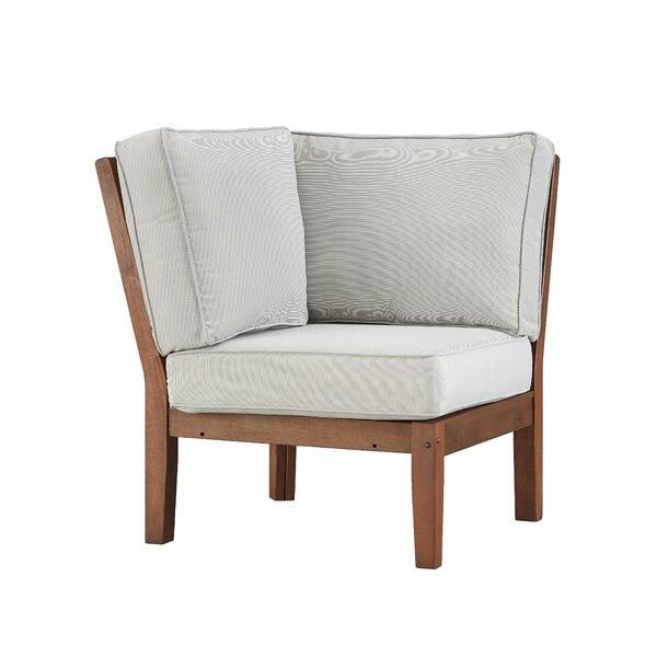 Hursey Corner Chair with Cushion by Three Posts