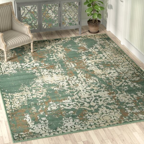 Forcalquier Green Indoor Area Rug by Lark Manor