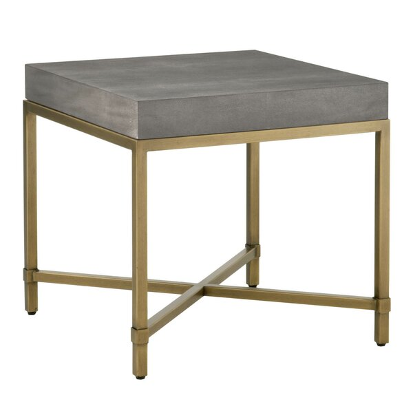 Gassville Square Top End Table by Everly Quinn