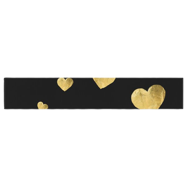Robin Dickinson Floating Hearts Table Runner by East Urban Home