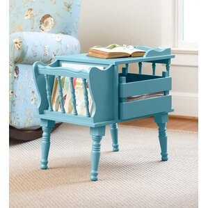Magazine End Table with Removable Storage Bo..