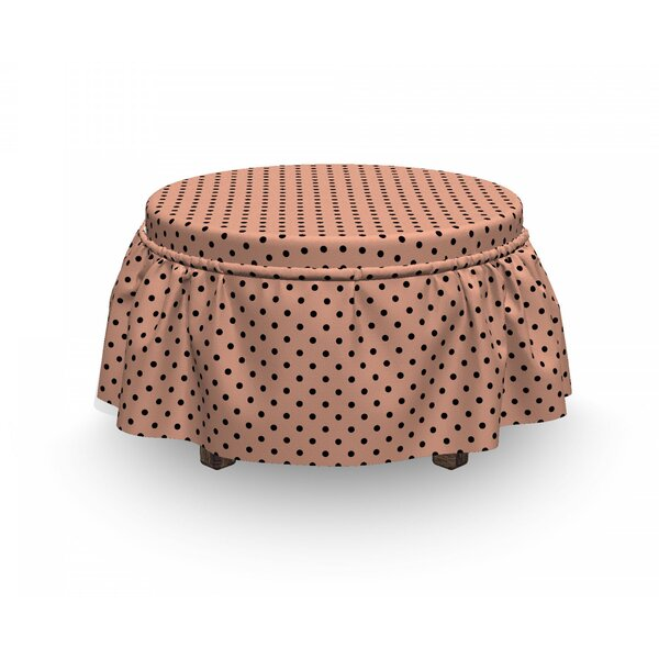Abstract European Design 2 Piece Box Cushion Ottoman Slipcover Set By East Urban Home