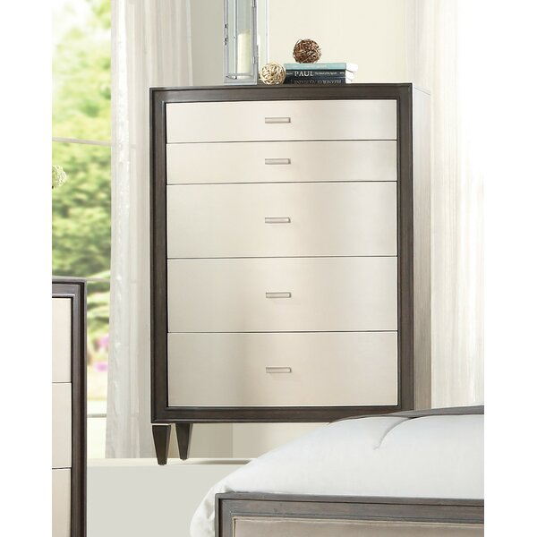 Fuselier 5 Drawer Chest by House of Hampton