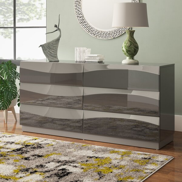 Clayfield 6 Drawer Double Dresser by Wade Logan