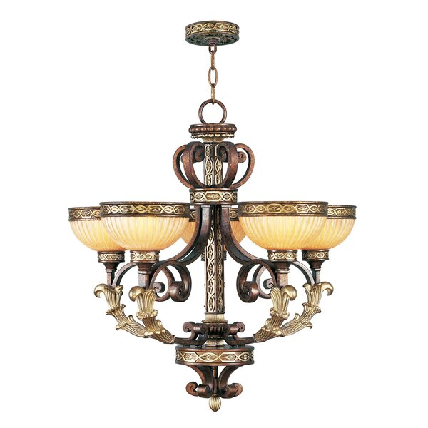 Schweizer 5-Light Shaded Classic / Traditional Chandelier by Astoria Grand Astoria Grand