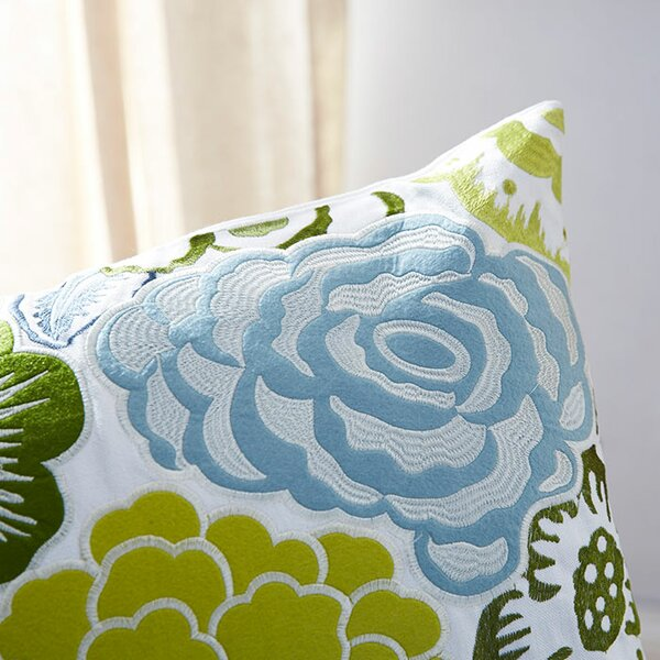 Claudia Flowers Of The Valley Throw Pillow by August Grove
