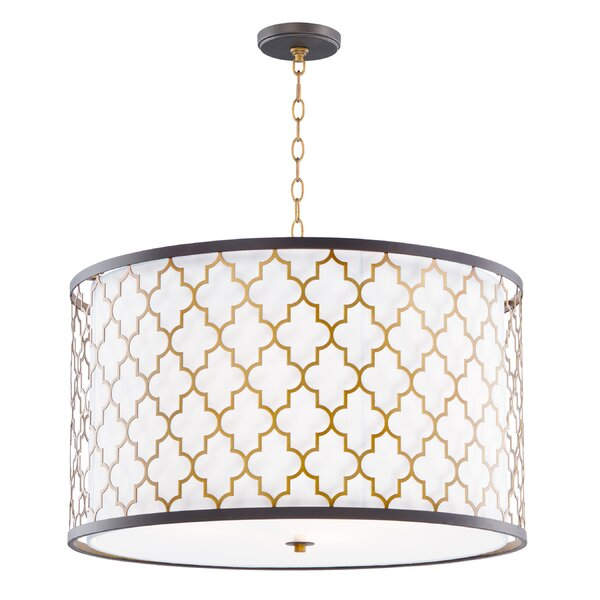 Lanning 4 - Light Shaded Drum Chandelier By Everly Quinn