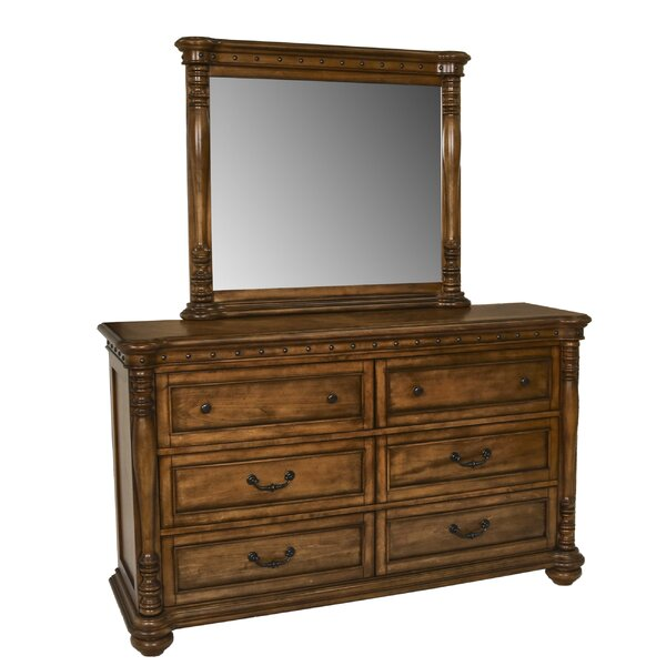 DuPalais Bastion 6 Drawer Double Dresser with Mirror by Charlton Home