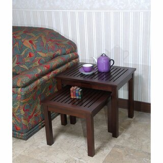 Sonoma Living Room Mahogany Wood Nesting Table, Set of 2 by Winston Porter SKU:EA758020 Shop
