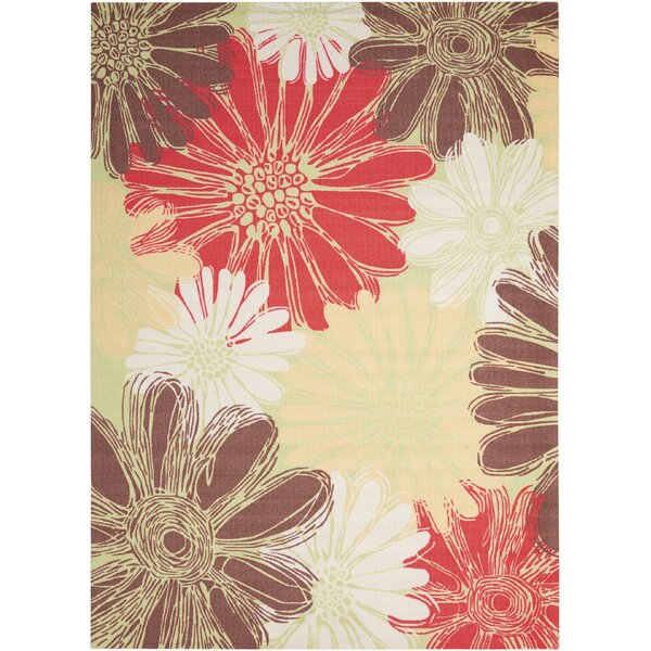 Avis Brown/Yellow/Red Indoor/Outdoor Area Rug by Zipcode Design