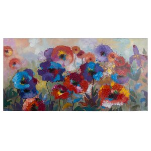 Flower Garden Painting on Wrapped Canvas by Alcott Hill
