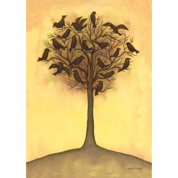 Tree Crows 2-Sided Garden flag by Toland Home Garden