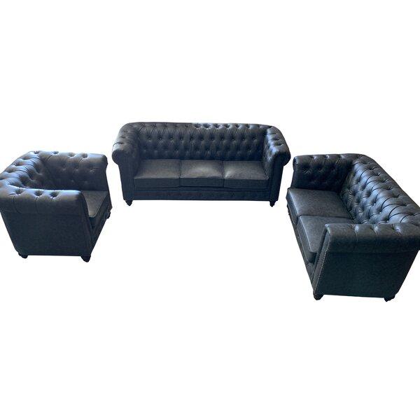 Kamen 3 Piece Living Room Set By Astoria Grand
