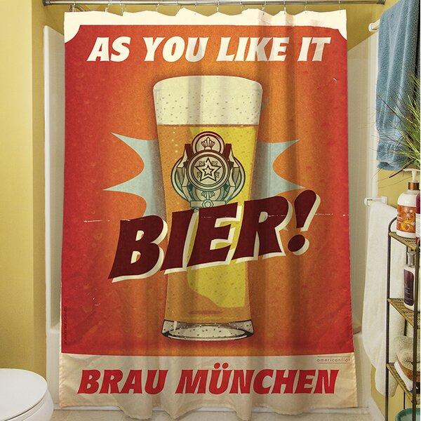 Bier Brau Munchen Shower Curtain by Manual Woodworkers & Weavers