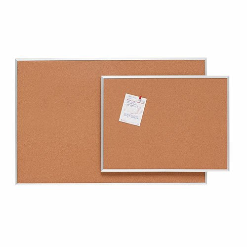 Cork Aluminum Frame Various Sizes Wall Mounted Bulletin board by Sparco Products