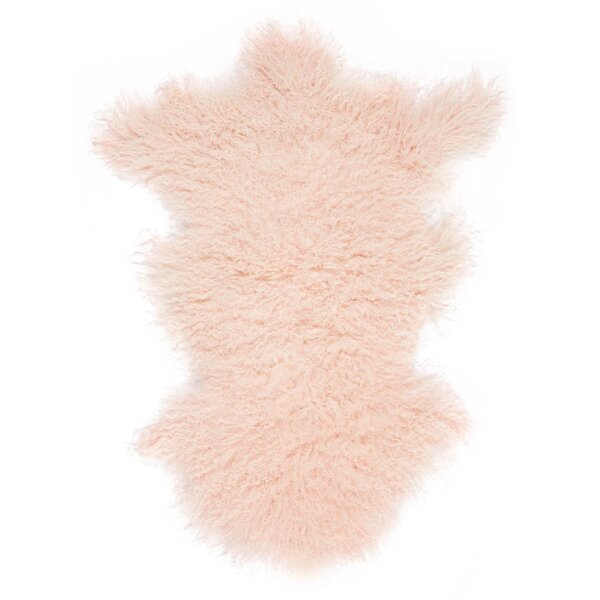 Highbury Sheepskin Rose Area Rug by House of Hampton