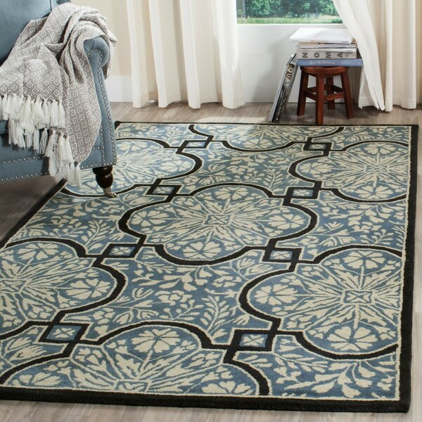 French Painted Avignon Hand-Loomed Kerry Blue Area Rug by Martha Stewart Rugs