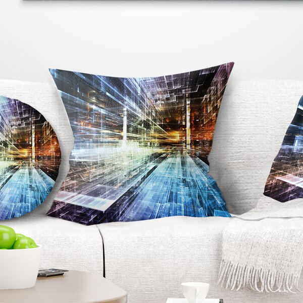 Abstract Future Industry Pillow by East Urban Home