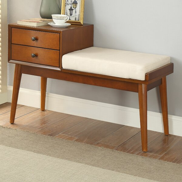 Vaccaro Upholstered Storage Bench by George Oliver