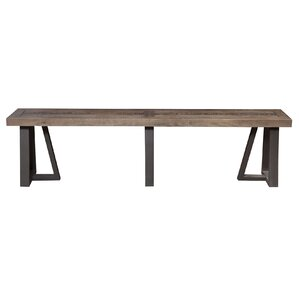 T.J. Wood Bench by Gracie Oaks